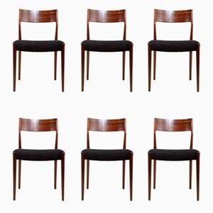 Mid-Century Dining Chairs in Rosewood, 1960s, Set of 6