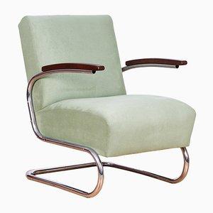 S 411 Freischwinger Sessel von W. H. Gispen für Mücke Melder, 1930er
