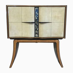 Parchment & Maple Bar Cabinet by Paolo Buffa, 1940s