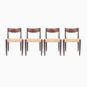 Rosewood Dining Chairs by Poul M. Volther for Frem Røjle, 1950s, Set of 4
