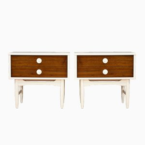 Tables de Chevet Mid-Century Modernes, Set de 2