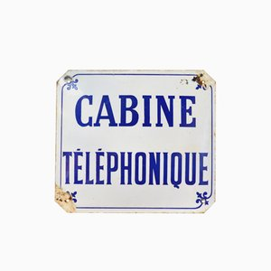 Vintage French Telephone Booth Sign, 1960s