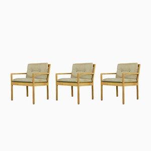 Armchairs by Bernt Petersen, 1970s, Set of 3