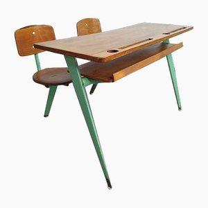 Pupitre d'École Deux Places Modèle 850 par Jean Prouvé pour Ateliers Prouve Nancy, 1952