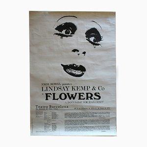 Affiche pour la Pièce de Théâtre Flowers, 1978