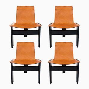 Tre 3 Esszimmer Stühle von Angelo Mangiarotti für Skipper & Pollux, 1978, 4er Set