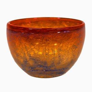 Scodella in vetro arancione sfumato di Benny Motzfeldt, 1968