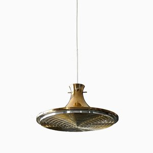 Brass Tulip Pendant Lamp by Hans-Agne Jakobsson, 1960s