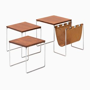 Rosewood Veneered Nesting Tables from Brabantia, 1960s