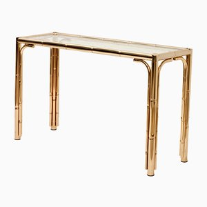 Console Table with Faux Bamboo, 1970s