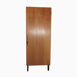 Mid-Century Teak and Oak Veneer Locker Cabinet