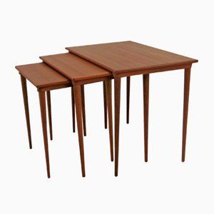 Tables Gigognes Vintage par Poul Hundevad, Set de 3