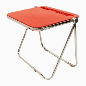 Red Platone Desk by Giancarlo Piretti for Anonima Castelli, 1960s