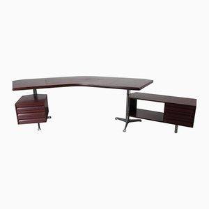 Italian Executive Desk by Osvaldo Borsani for Tecno, 1950s