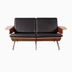 Modell FM50 2-Sitzer Leder Sofa von Cornelis Zitman für Pastoe, 1960er