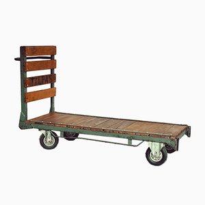 Vintage Oak & Iron Trolley