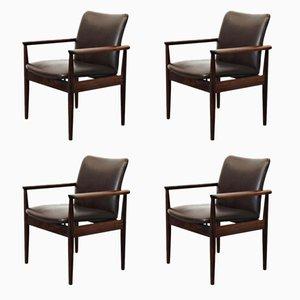 Model 209 Armchairs by Finn Juhl for France & Søn, 1960s, Set of 4