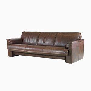 Vintage 3-Seater Buffalo Leather Sofa from Leolux, 1970s