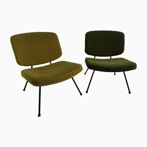 CM190 Chairs by Pierre Paulin for Thonet, 1957, Set of 2