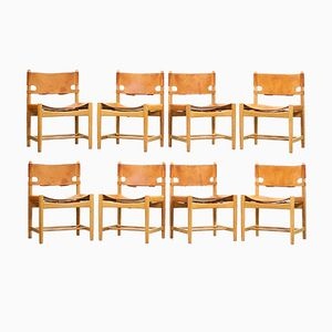Vintage 3237 Dining Chairs by Børge Mogensen for Fredericia Stolefabrik, Set of 8