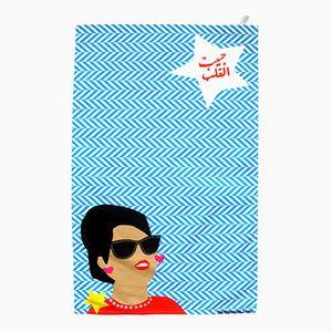 Um Kulthum Loves D&G! Tea Towel by Rana Salam Studio