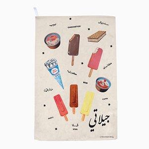 Gilati Ice Creams! Tea Towel by Rana Salam