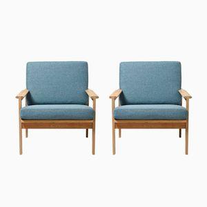 Vintage Capella Sessel aus Eiche von Illum Wikkelsø für N. Eilersen, 2er Set