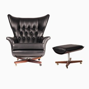 Mid-Century Modern Model 62 Lounge Chair & Ottoman from G-Plan