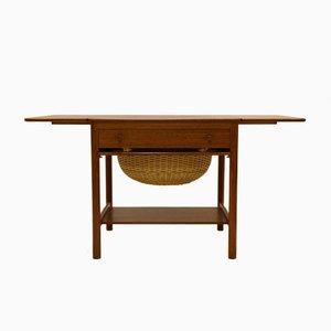 Vintage PP33 Sewing Table in Teak by Hans J. Wegner for PP Møbler