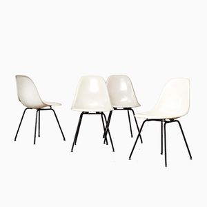 DSX Dining Chairs by Ray & Charles Eames for Herman Miller, 1960s, Set of 4