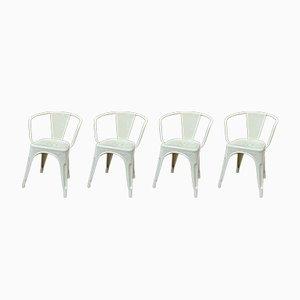 Metall Stühle von Tolix, 1950er, 4er Set