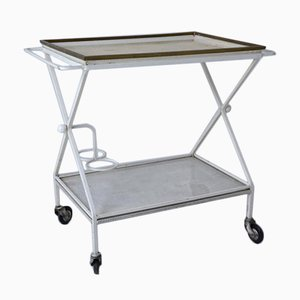 Rolling Dessert Cart with Double Tray by Mathieu Matégot