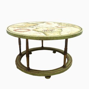 Vintage Hand-Painted Coffee Table