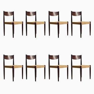 Dänische Stühle von Poul M. Volther für Frem Røjle, 1960er, 8er Set