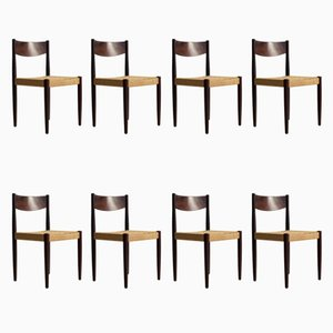 Danish Chairs by Poul M. Volther for Frem Røjle, 1960s, Set of 8