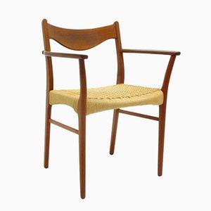 Teak Chair by Ejner Larsen & Aksel Bender Madsen for Glyngore Stolefabrik, 1970s