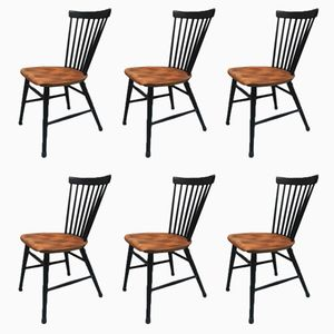 Mid-Century Stühle von Ilmari Tapiovaara, 4er Set