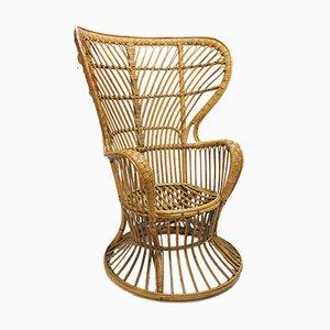 Wicker Armchair by Lio Carminati for Bonacina, 1950s