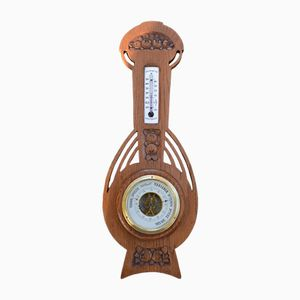 Art Nouveau Weather Station Thermometer & Barometer from Clairetta, 1910s