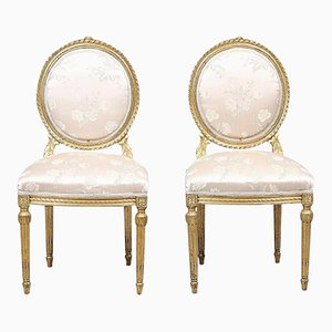 Antique Louis XVI Style Chairs, Set Of 2
