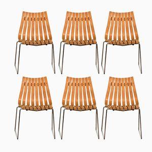 Stapelbare Junior Esszimmer Stühle von Hans Brattrud für Hove Møbler, 1950er, 6er Set