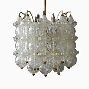 Franken Tulipan Frosted Glass Ball Pendant Lamp by J.T. Kalmar, 1960s