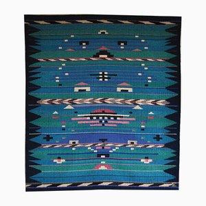 Danish Handwoven Tapestry by Mette Birckner, 1980s