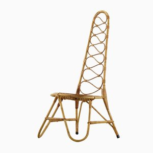 French Riviera Rattan & Bamboo Chair