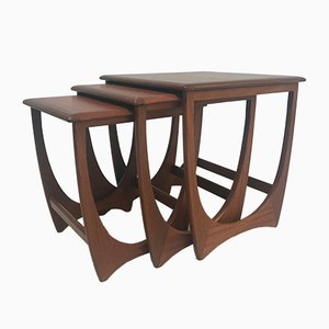 Mid-Century Teak Nest of Side Tables from G-Plan, 1960s
