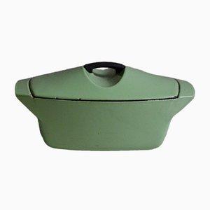 Casserole Vintage Vert Amande par Raymond Loewy pour Le Creuset