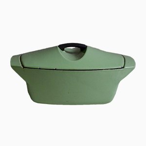 Grüne Vintage Auflaufform von Raymond Loewy für Le Creuset