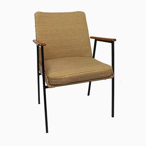 Armchair in Yellow Jacquard Fabric from Mauser, 1960s