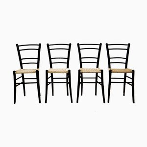 Vintage Blackwood Chairs from Cassina, Set of 4