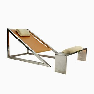 Mies Chair with Ottoman by Archizoom Associati for Poltronova, 1969
